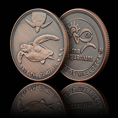 Turtles - Palma Aquarium Coin